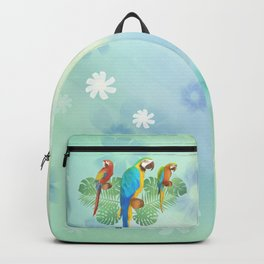 Parrots and flowers Backpack
