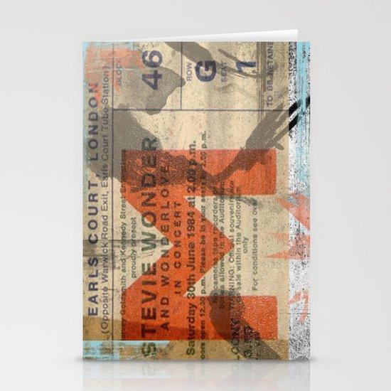 stevie wonder ticket stub Stationery Cards