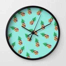 Tropical Pineapple pattern Wall Clock