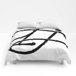 TJ Signature Logo-Black Comforters