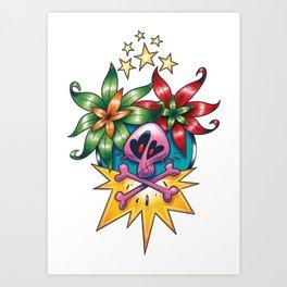 Tatouage de Mégane Art Print