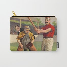 Awaiting The Pitch - Vintage Color Baseball Print - 1895 Carry-All Pouch