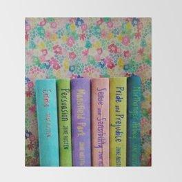 Jane Austen Library Throw Blanket