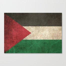 Old and Worn Distressed Vintage Flag of Palestine Canvas Print
