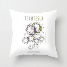Team Tesla Throw Pillow