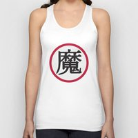 dragonball Tank Tops featuring Demon Clan Insignia - Dragonball Z by Larsonary