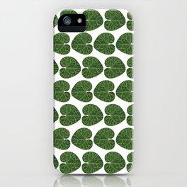 Cyclamen leaf pattern iPhone Case