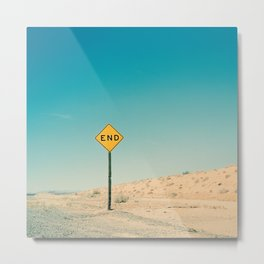 END Road Sign Metal Print