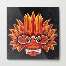 Sri Lankan Dance Mask: Fire Demon / Gini Raksa Metal Print