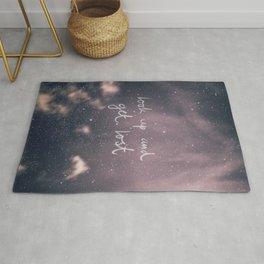 Look  Up And Get Lost Quote Art Print Rug
