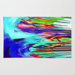 Abstract Waves Rug