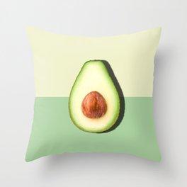 Avocado Half Slice Throw Pillow