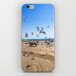 Seagulls of Coney Island iPhone Skin