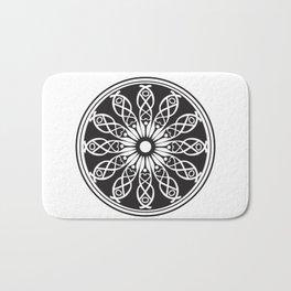 White flower mandala Bath Mat