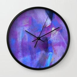 Purple light Wall Clock