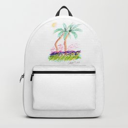 """""""Sister Palms"""" Mixed Media Sketch Backpack"""