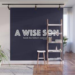 A wise son Blue/White Wall Mural