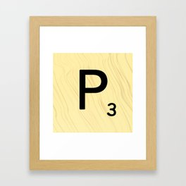 Scrabble P - Large Scrabble Tile Letter Framed Art Print