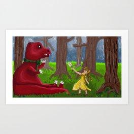 Jane and Chompy Art Print