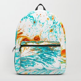 Waves of Thought #abtsract #painting Backpack