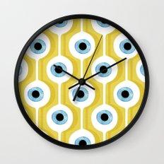 Eye Pod Yellow Wall Clock