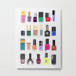My nail polish collection art print Metal Print