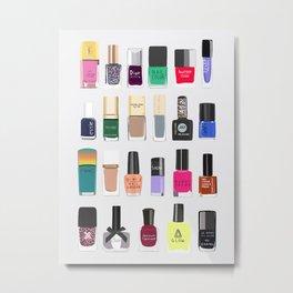 My nail polish collection art print Metal Print
