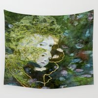 sisters Wall Tapestries featuring The Sisters by Dulcie Clegg