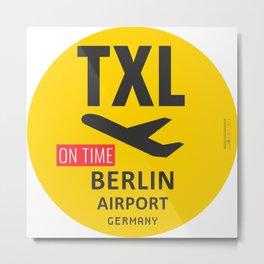Airport TXL Berlin Metal Print