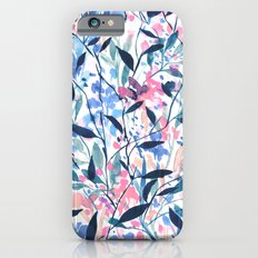 Wandering Wildflowers Blue Slim Case iPhone 6