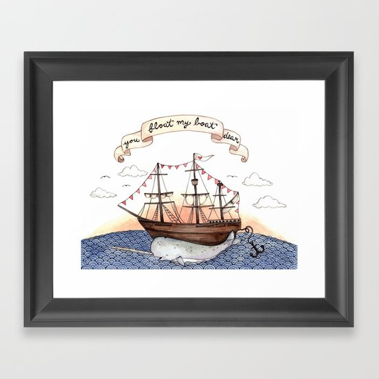 Float My Boat Framed Art Print