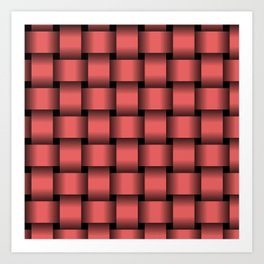 Large Light Red Weave Art Print