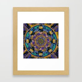 Purple Gold Dream Catcher Mandala Framed Art Print