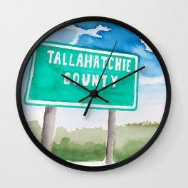 Tallahatchie County Wall Clock