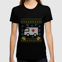 EMT Christmas Ugly Shirt Paramedic Ugly EMS Sweater Design T-shirt