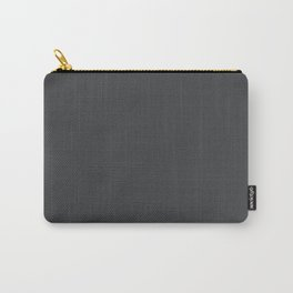 Dunn & Edwards 2019 Curated Colors Dark Engine (Dark Gray / Charcoal Gray) DE6350 Solid Color Carry-All Pouch