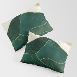 Mt Hood Emerald Mountain Abstract Pillow Sham