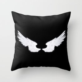 White Angel Wings Throw Pillow