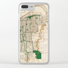 Map Of Kansas City 1915 Clear iPhone Case
