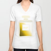 perfume V-neck T-shirts featuring Society6 Perfume by Jessica Slater Design & Illustration