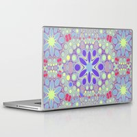 hippy Laptop & iPad Skins featuring Hippy Circles And Flowers by ALLY COXON