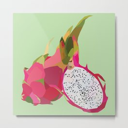 Geo Dragon Fruit Metal Print