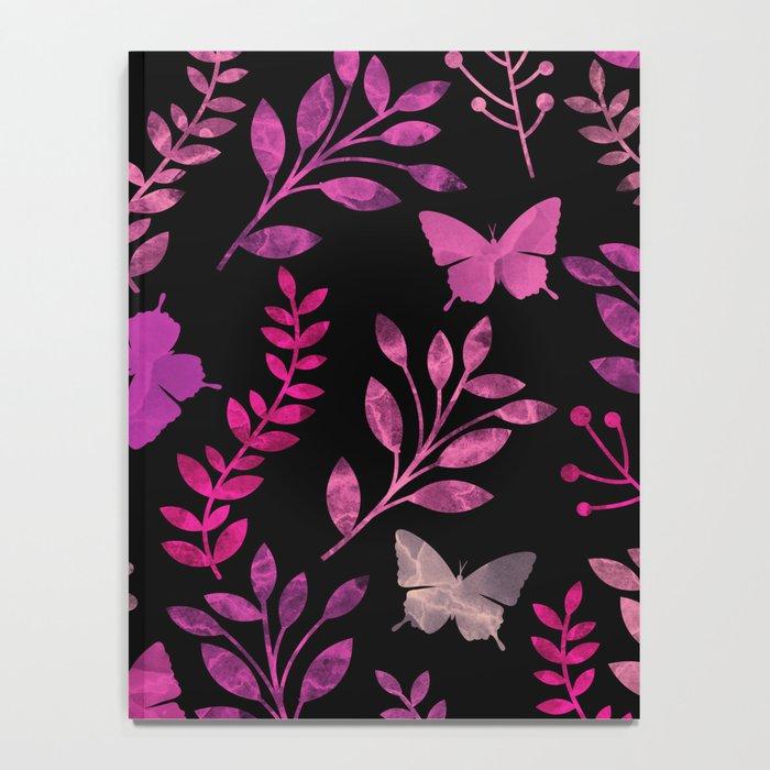 Watercolor flowers & butterflies III Notebook