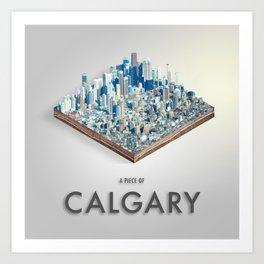Piece Of Calgary Isometric Art Art Print