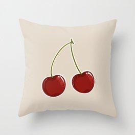 Sour cherry Throw Pillow