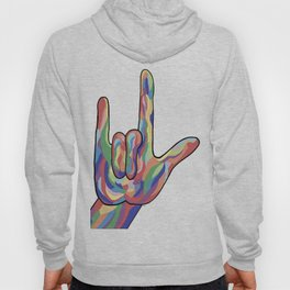 ASL I Love You Muted Tones Hoody