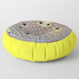 Montreal Sewer Manhole Floor Pillow