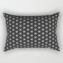 Flower of life pattern on black Rectangular Pillow
