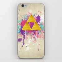 triforce iPhone & iPod Skins featuring Splash Triforce by Brittany