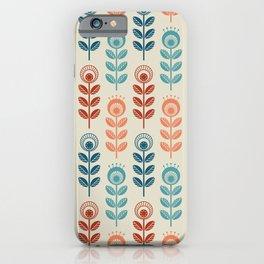 SCANDI GARDEN 01-7, multicolor on ivory iPhone Case